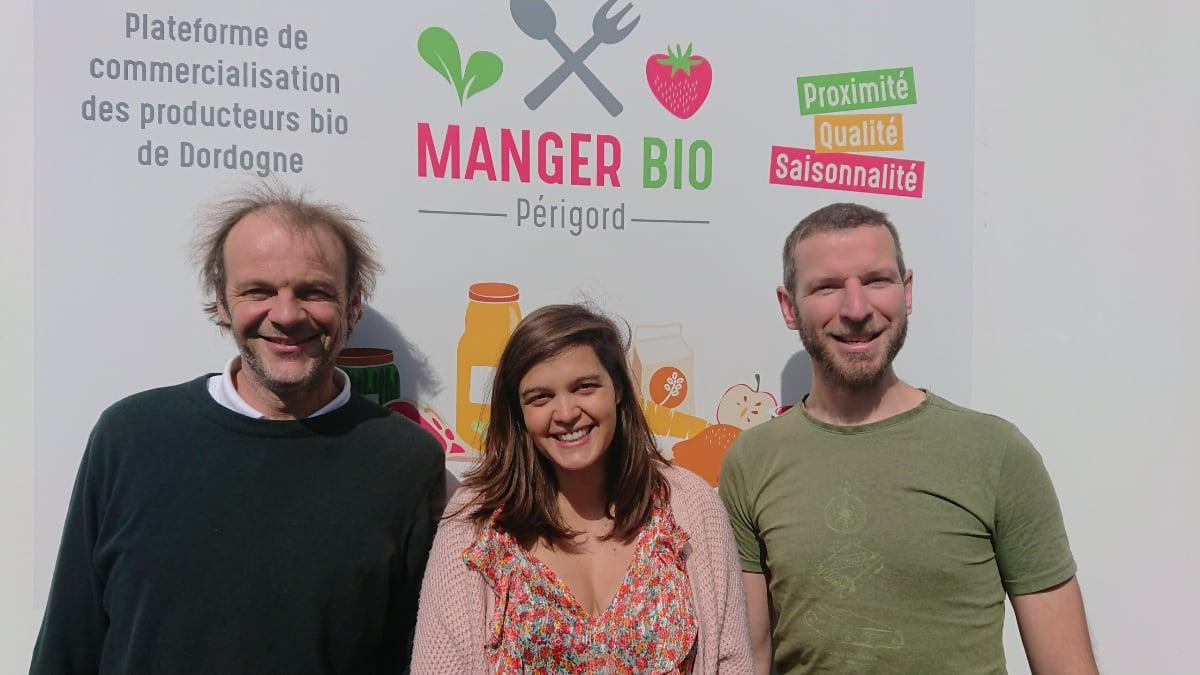 L'équipe de Manger Bio Périgord, au service des producteurs locaux